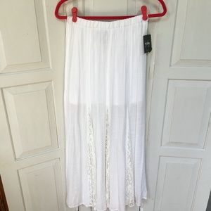 By&by White Gauzy Maxi Skirt